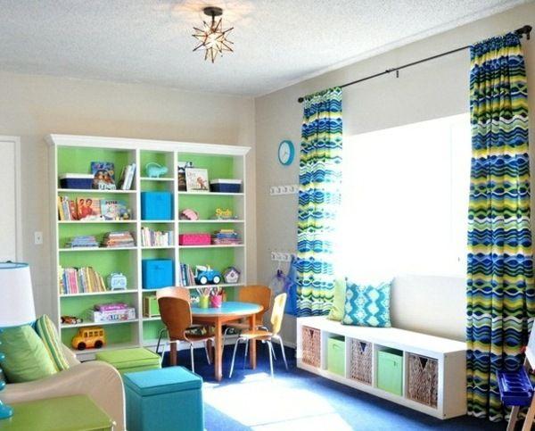 helles Kinderzimmer grün blau Design | Playroom | Pinterest | Playrooms