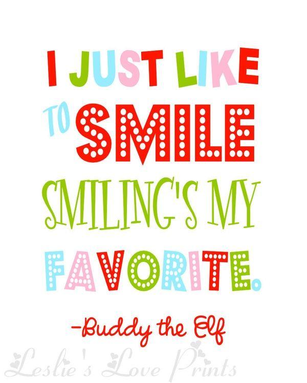 Elf Quotes Smiling: Buddy The Elf Quote