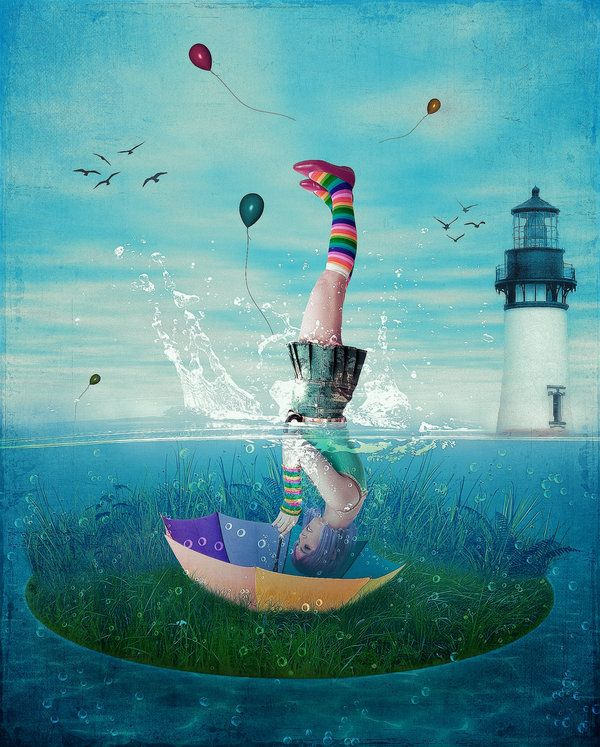 Upside Down Imagination Illustration Surreal Art Surrealism
