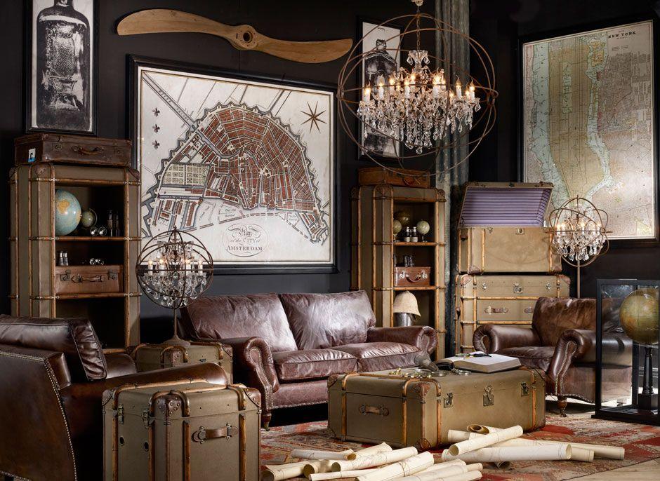 Traveller Lounge Timothy Oulton Vintage Living Room Design