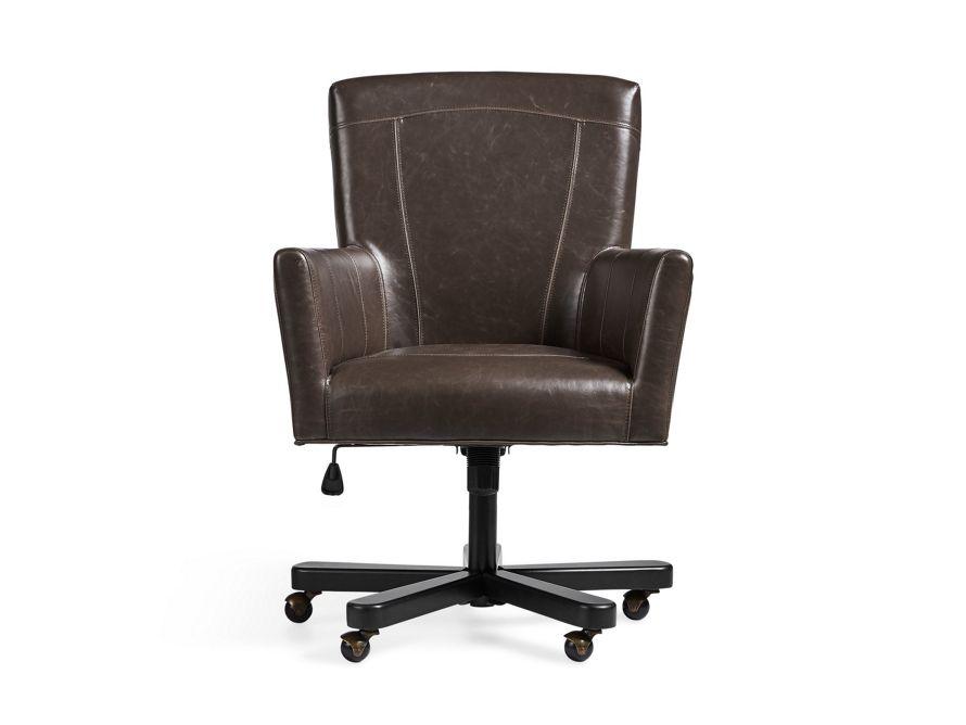Colette Faux Leather Desk Chair Arhaus Furniture Leather Desk Desk Chair Home Office Furniture