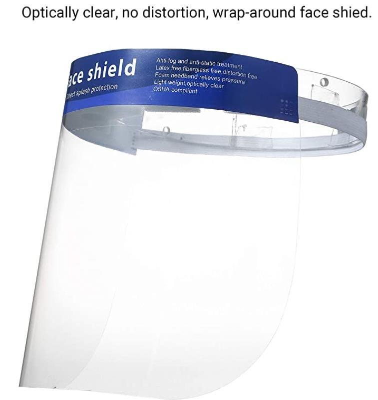 Transparent Single Use Mask Visor Protection From Splash And