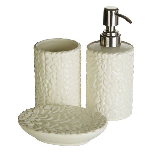 Magnolia Dolomite 3 Piece Bathroom Accessory Set Castleton Home Bathroom Accessories Sets Bathroom Accessories Bathroom Sets