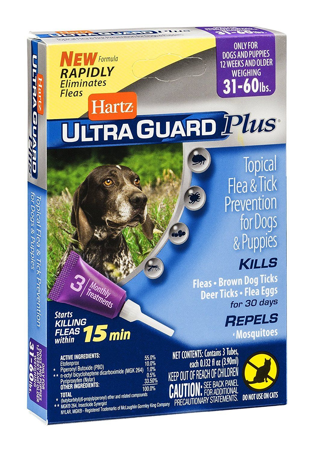 Hartz Ultra Guard Plus Flea Drops 31 60 Lbs You Can Find More Details By Visiting The Image Link T Dog Training Pads Ticks On Dogs Tick Treatment For Dogs