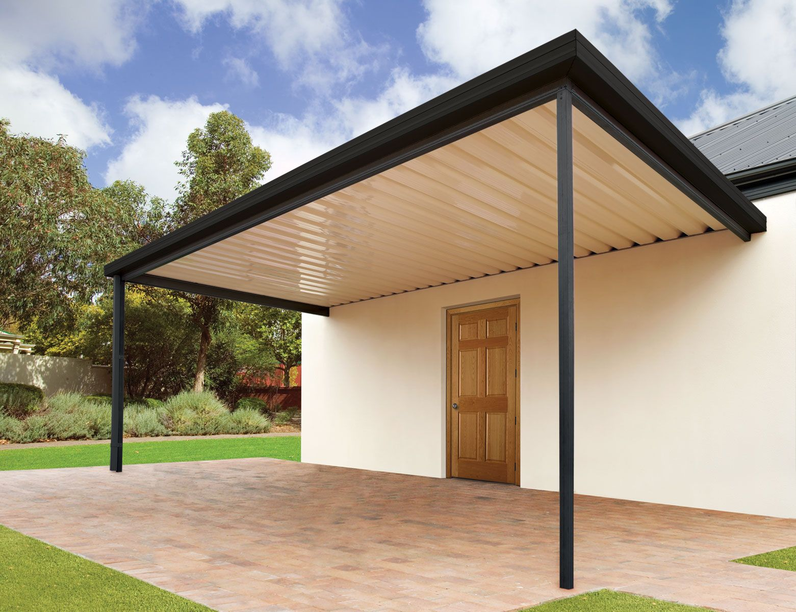 Sanctuary® Patio Stratco Carport patio, Patio, Patio kits