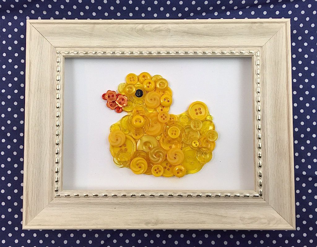 Rubber Duck, Framed Button Art by McKinneyx2Designs on Etsy | baby ...