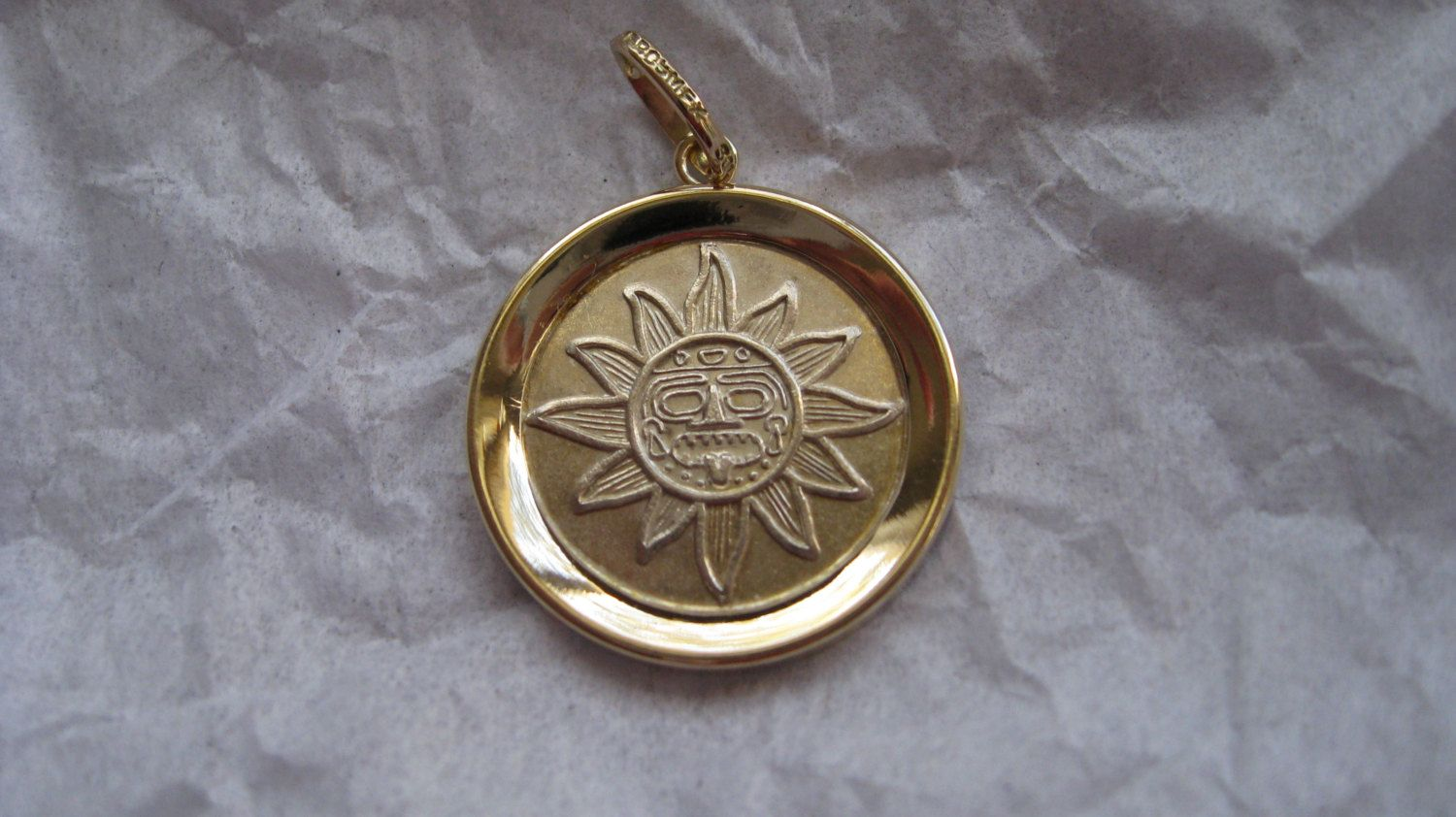 SOLD Vintage Mexican sun god charm by TrulyMeVintage on Etsy