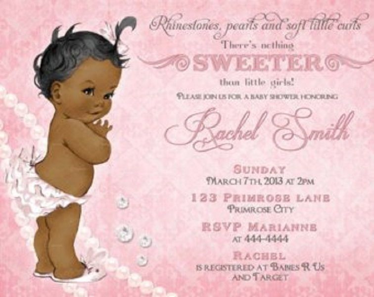 image regarding Free Printable African American Baby Shower Invitations referred to as cost-free printable african american little one shower invites