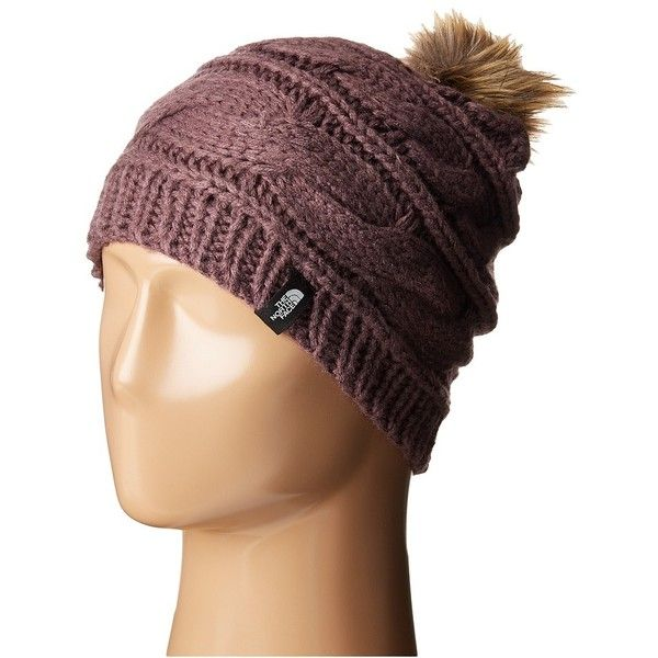 The North Face Triple Cable Fur Pom (Black Plum) Beanies ($35 ...