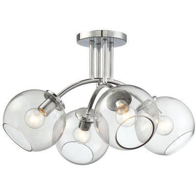 Brayden Studio® Millbrook 4 Light Semi Flush Mount