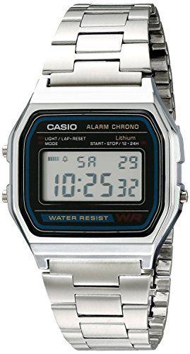 d8f171214e16 Casio Men s A158W-1 Stainless Steel Digital Watch in 2019