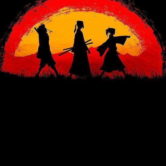 926029664c82 Samurai Champloo walking on sunset | Anime - Samurai Champloo ...