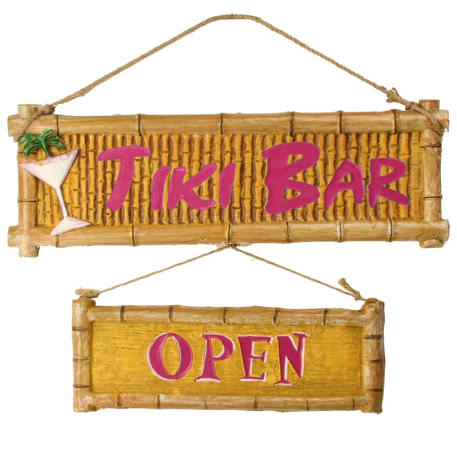 Bar Signs And Decorations 3D Plastic Tiki Bar Sign 28581  Anniversary Party  Pinterest