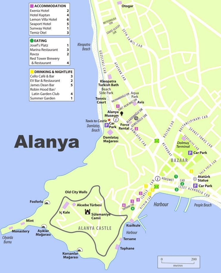 Alanya tourist map Maps Pinterest Tourist map Alanya and City