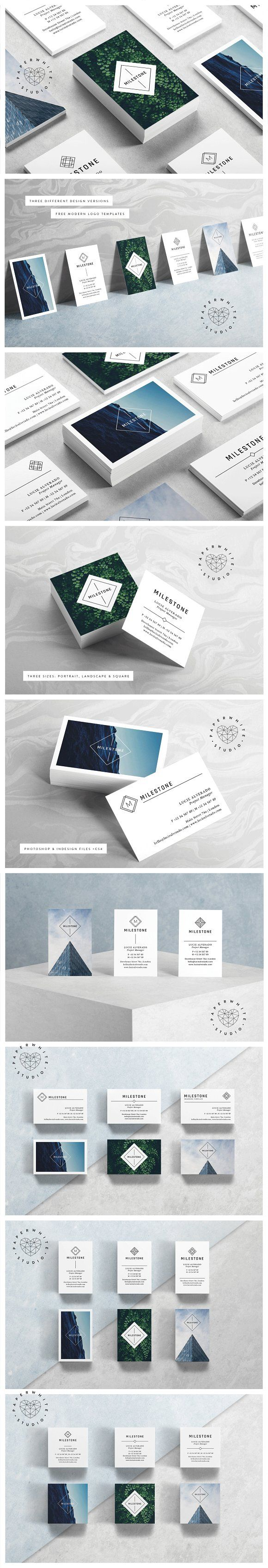 Milestone business cards the templates come in three different milestone business cards the templates come in three different sizes landscape portrait reheart Images