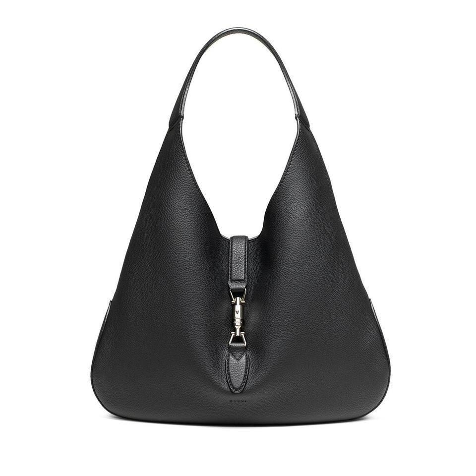 Gucci Jackie Soft Black Leather Handbag 362968 Hobo Bag Soft Leather Hobo Bag Leather Hobo Bag Vegan Purse Handbags