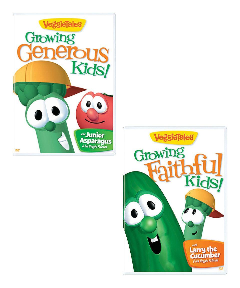 Another great find on #zulily! VeggieTales: Growing Faithful & Generous Kids DVD Set by VeggieTales #zulilyfinds