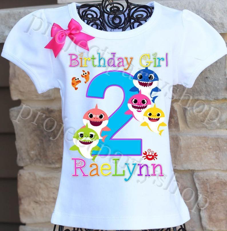 Baby shark birthday shirt baby shark girls birthday shirt