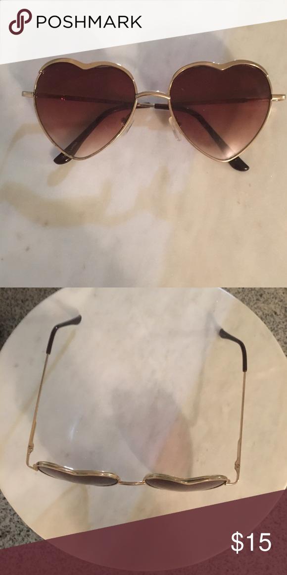 EUC heart shaped sunglasses
