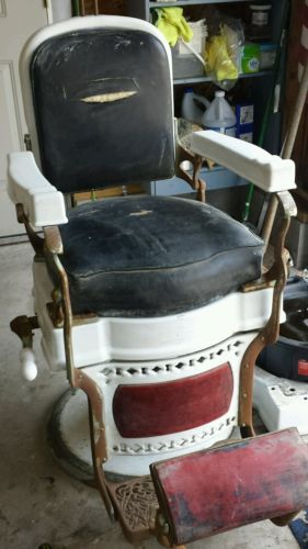 antique koken congress barber chair parts antiques pinterest