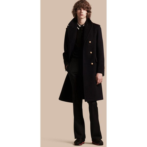 Burberry Technical Wool Military Overcoat (£2,535) ❤ liked on ...