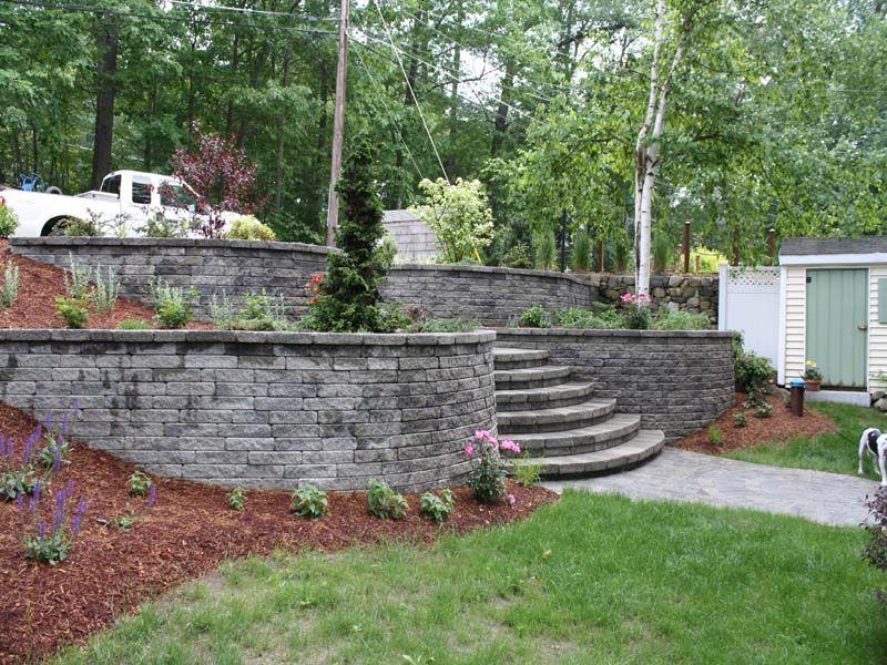 Retaining Wall Landscaping Blocks Backyard Backyard Retaining Walls