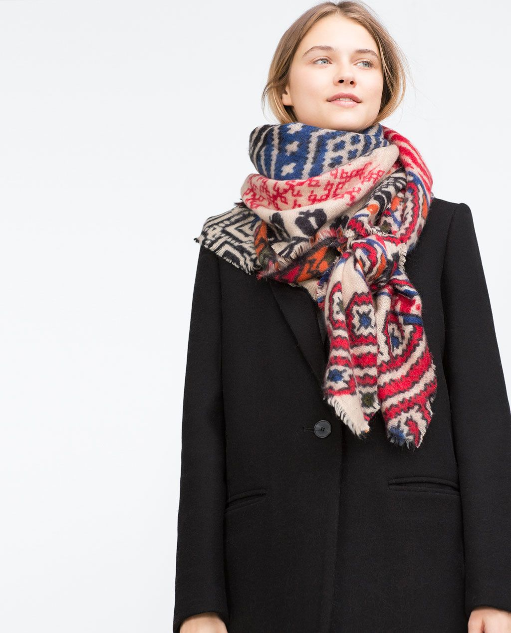 d7aacd29365a MULTICOLOR PRINT SOFT SCARF-Scarves-Accessories-WOMAN