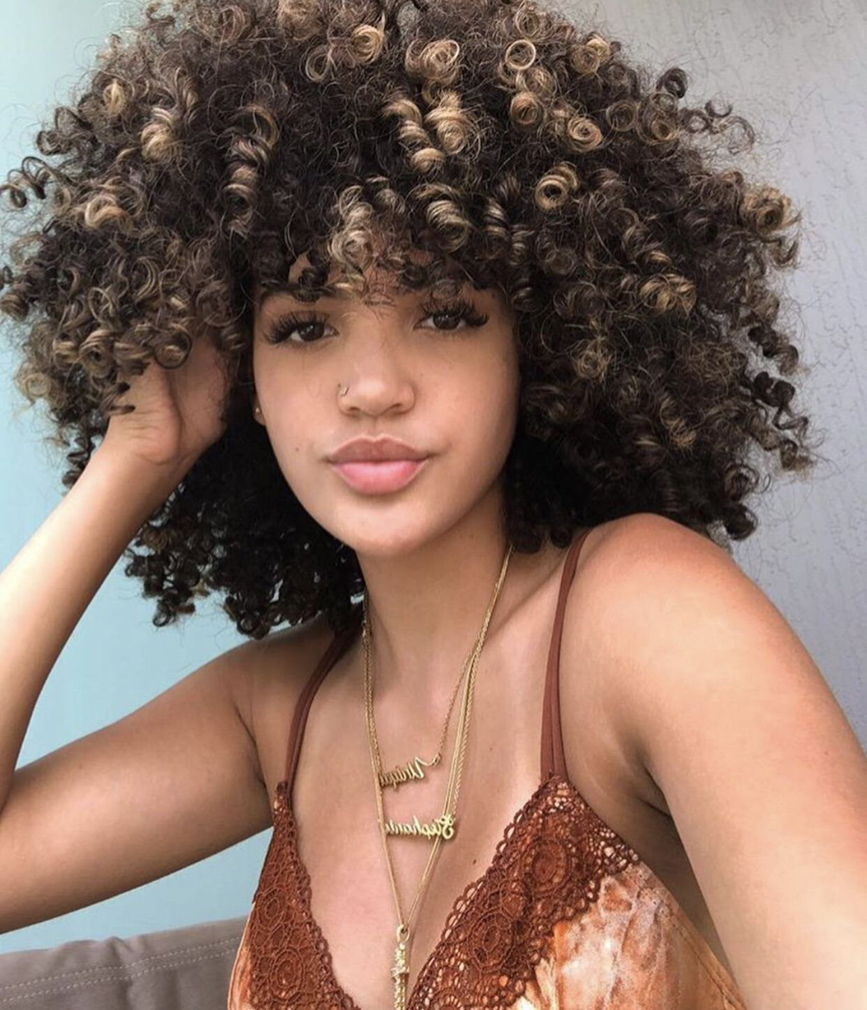 Pinterest Lilrynn Curly Hair Inspiration Curly Afro Hair Curly Hair Styles