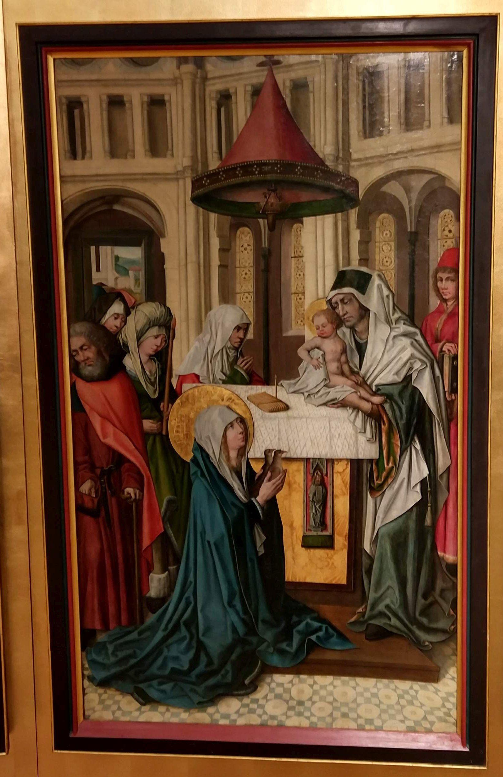 Die Darstellung Christi Im Tempel 1505 Mainz Landesmuseum Sog Mainzer Marienleben Wahrscheinlich Aus Dem Liebfrauenstift In Mainz F Meister Museum Bucher