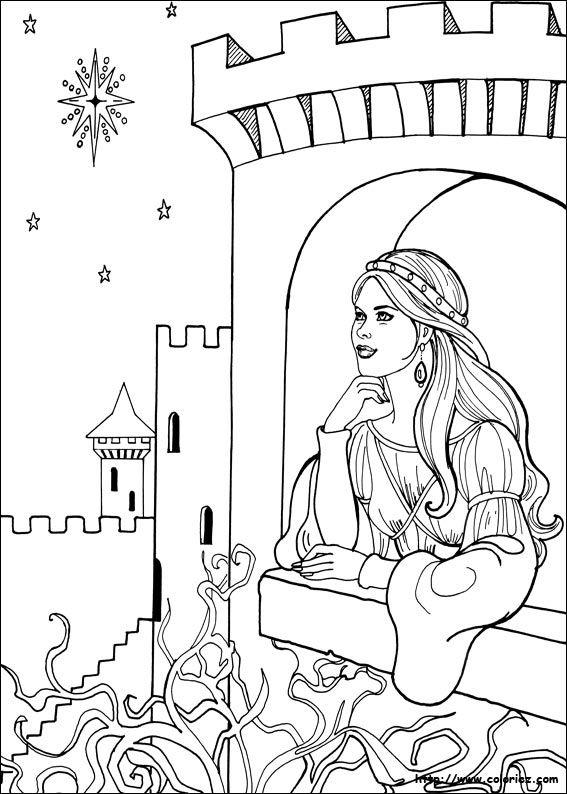 Coloriage Chateau Princesse