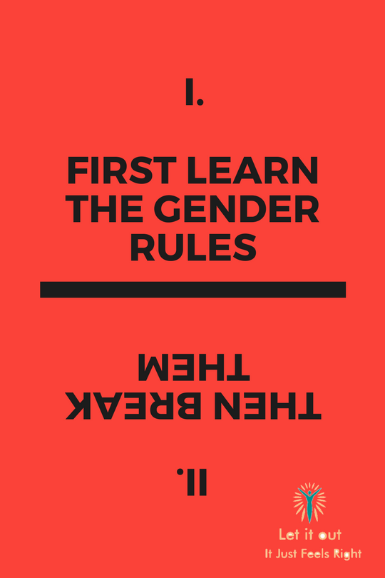 This poster is all about breaking gender rules.
