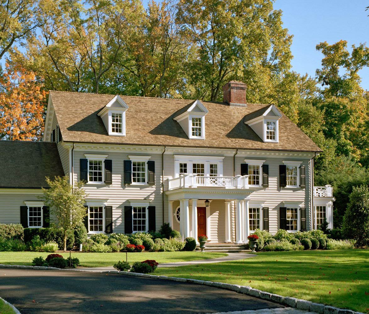 Traditional Exterior Homes: Classic Wood Georgian Colonial