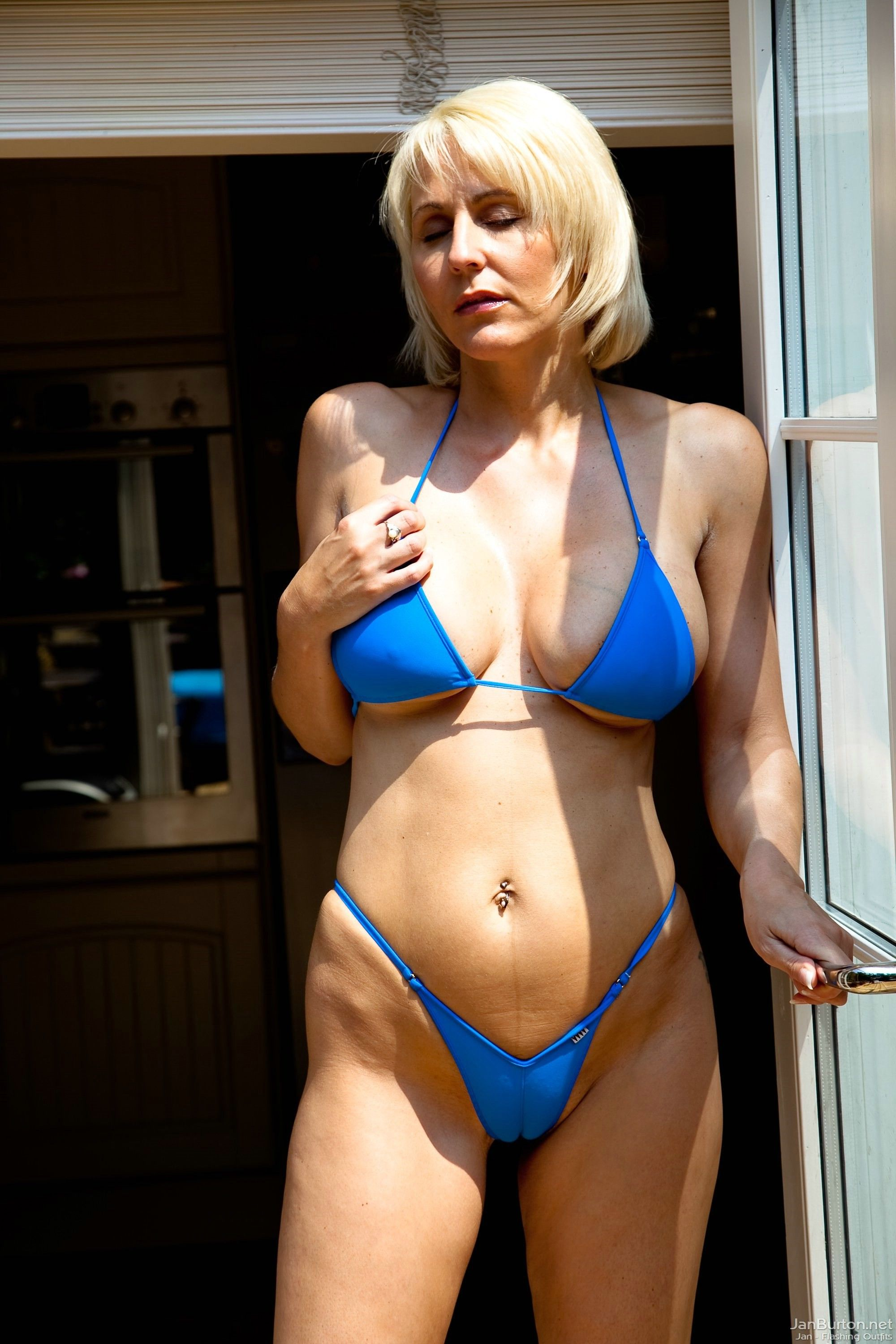 Can recommend mature woman blue bikini share