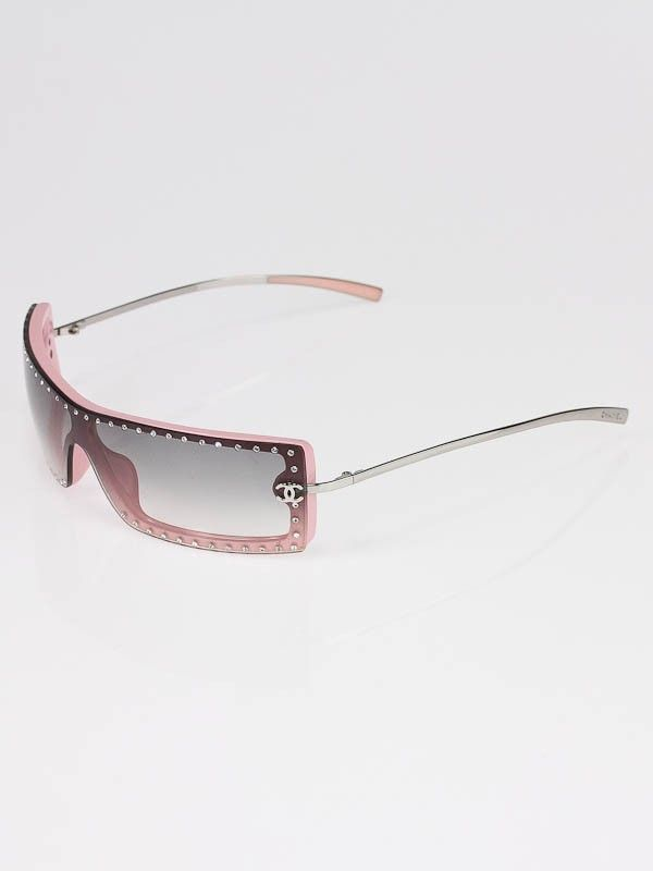 ea2a41b57a Chanel Pink Frame Swarovski Crystal Sunglasses 5077-B