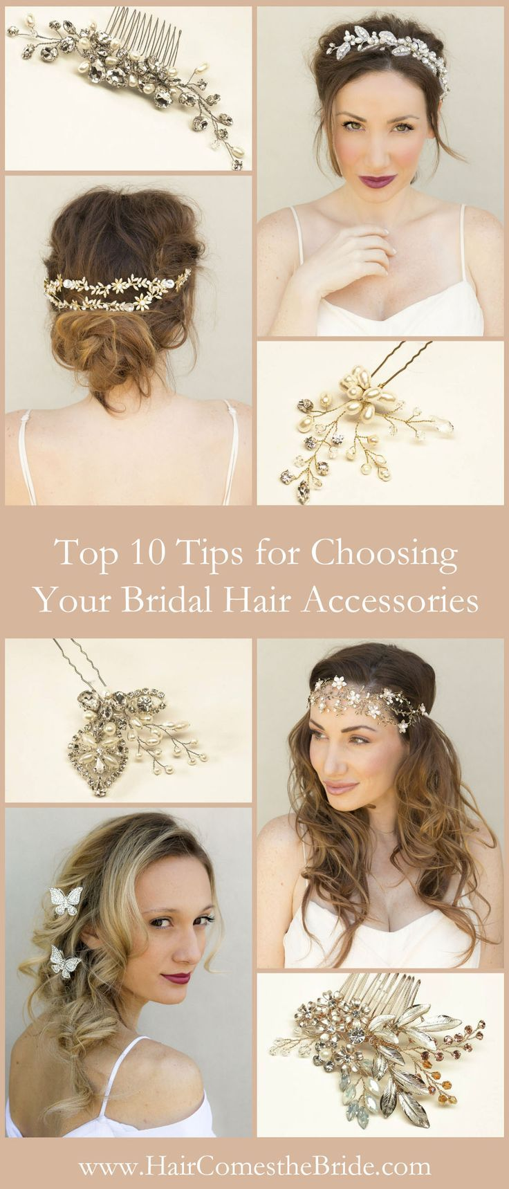 top 10 tips for choosing your bridal hair accessories in