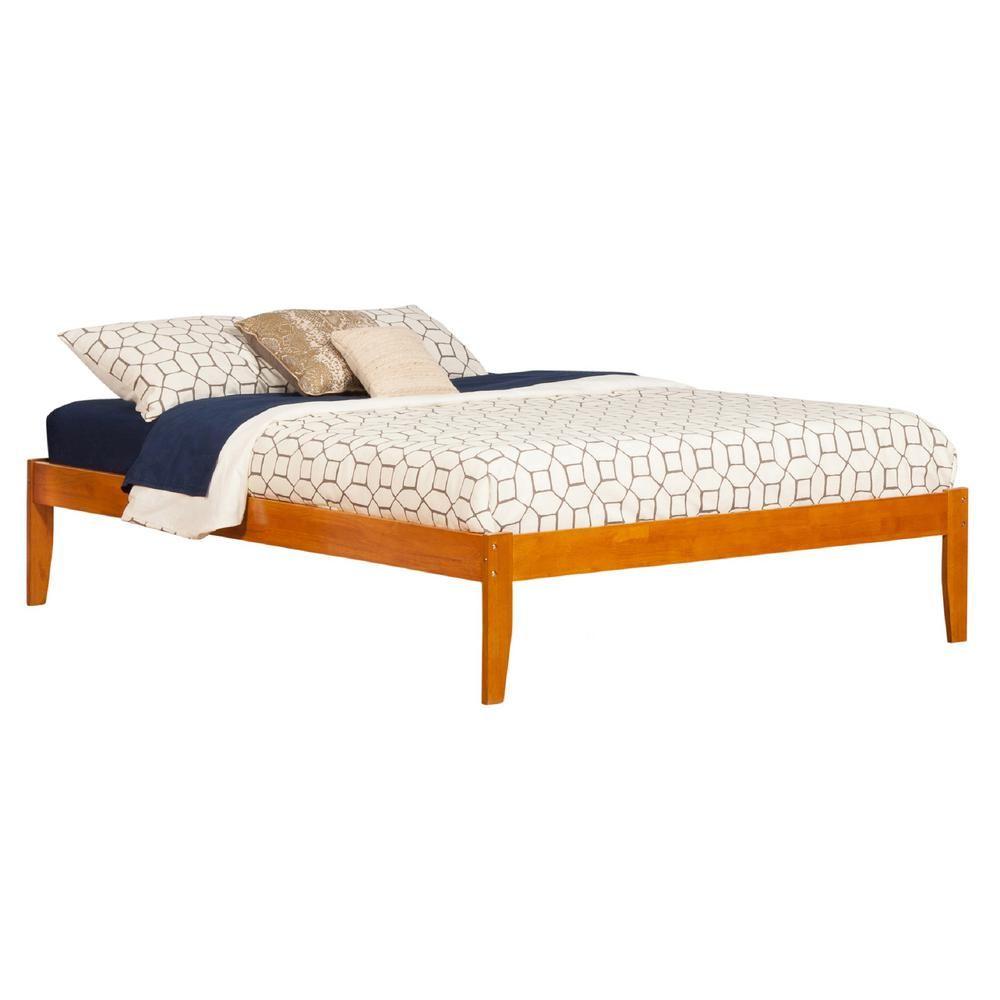Atlantic Furniture Concord Caramel Queen Platform Bed With Open Foot Board King Platform Bed Bed Queen Platform Bed