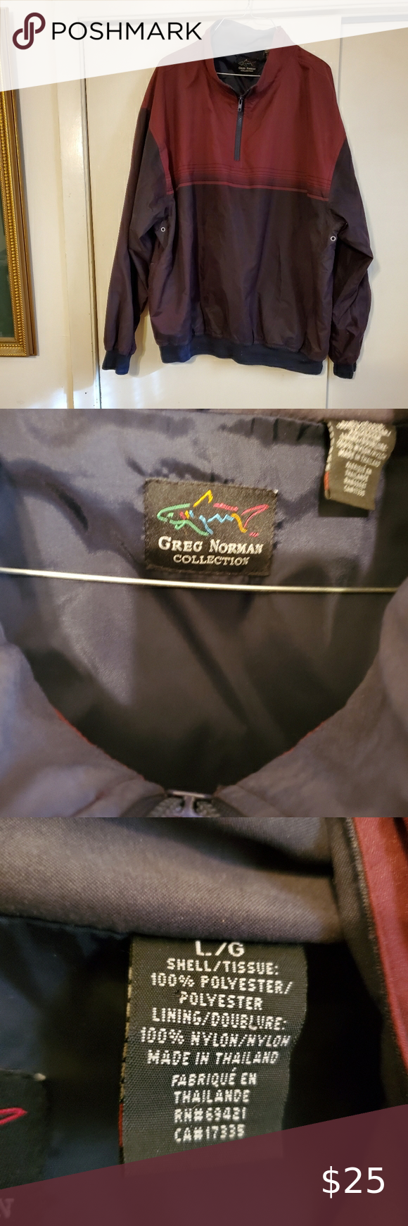 Greg Norman Collection Zippered Pullover Jacket In 2020 Pullover Jacket Pullover Clothes Design