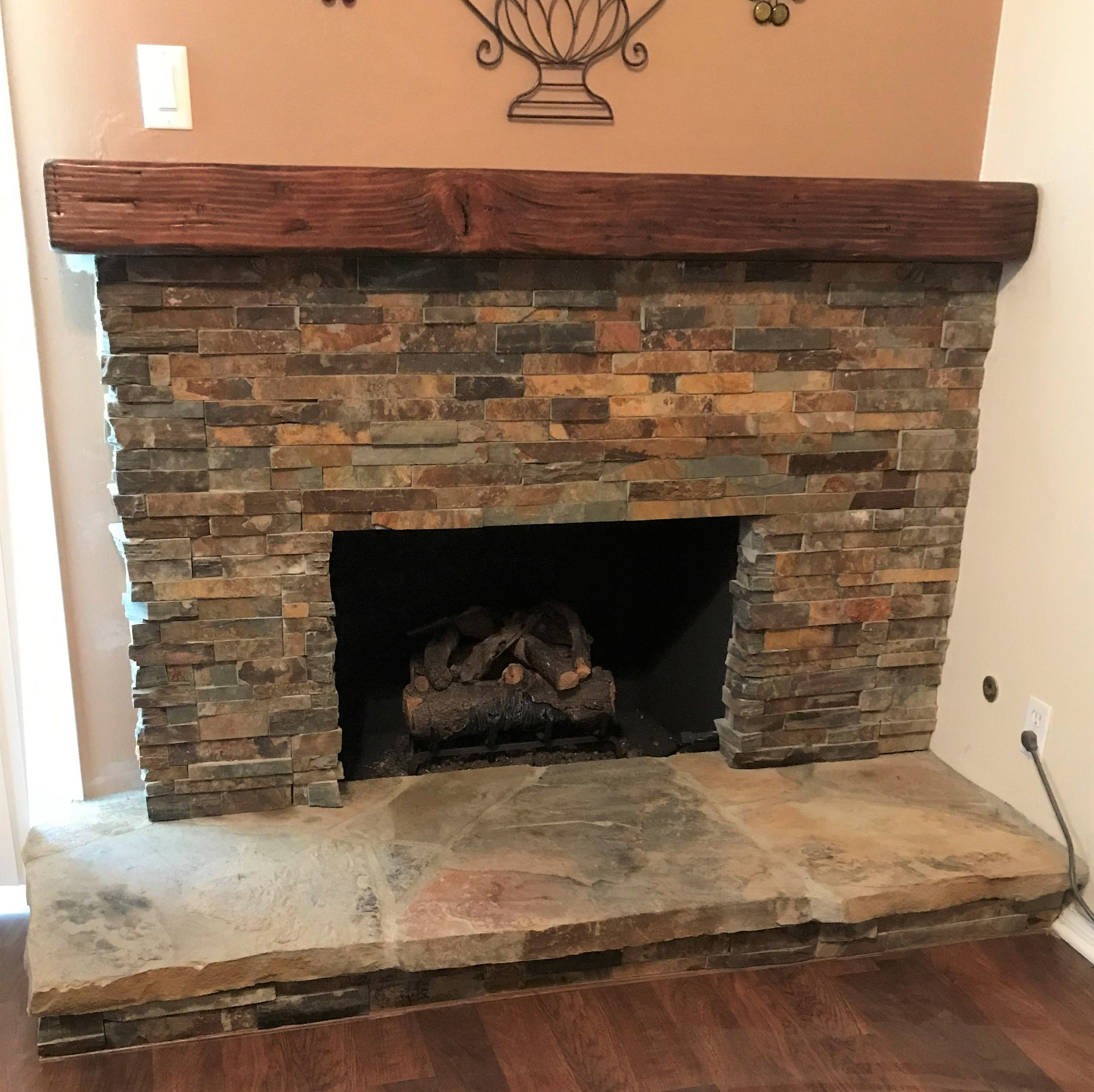 Reclaimed Wood Mantel In Tudor Brown Wood Fireplace Mantel Reclaimed Wood Mantel Wood Mantels