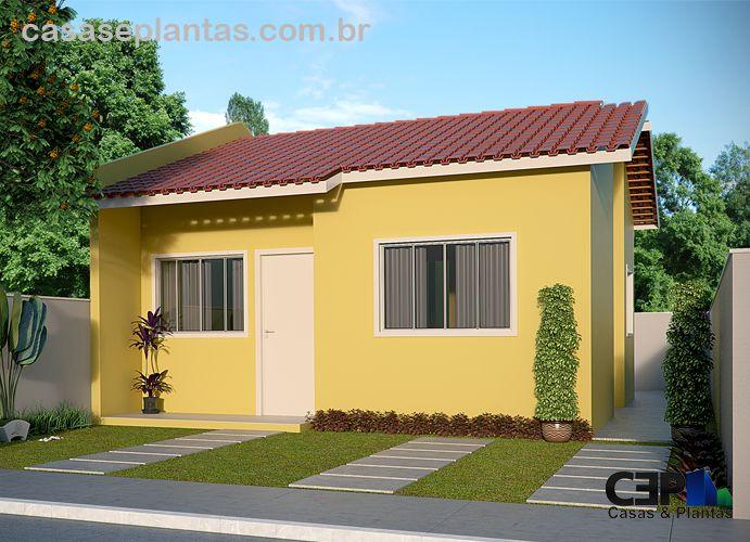 O projeto da casa de 64 47 m acolhe as exig ncias do - Casas de madera pequenas y baratas ...