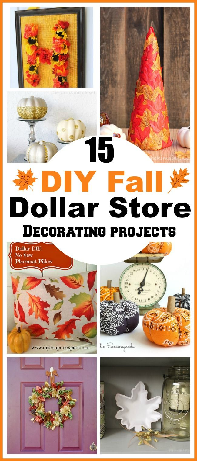 15 Diy Fall Dollar Store Home Decor Projects Dollar Tree Fall