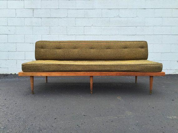 Vintage Mid Century Danish Modern Platform Daybed Sofa