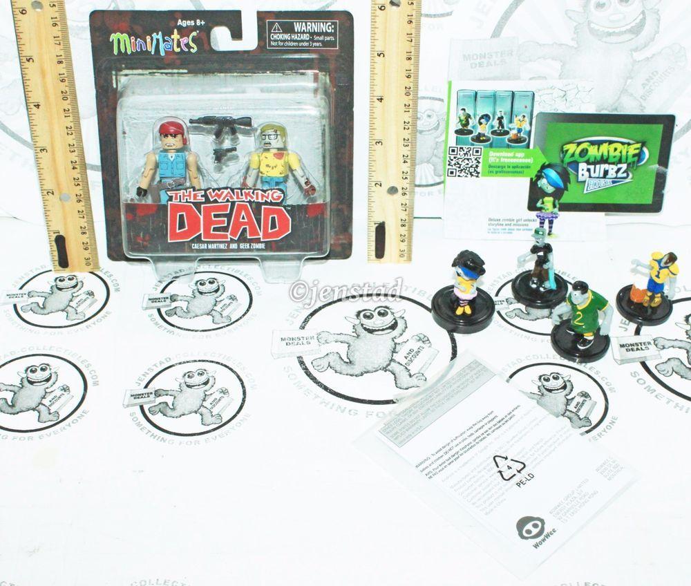 Walking Dead Minimates Lot Ceasar Martinez /& Survivor Morgan NEW in Package!