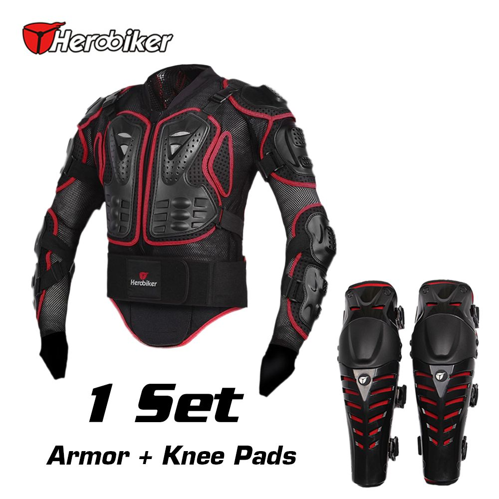 Herobiker Motorcycle Riding Armor Jacket Knee Pads Motocross Off Road Enduro Atv Racing Body Protective Ge Motorcycle Riding Jackets Padded Shorts Body Armor