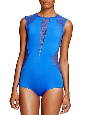ad675d7289 Carmen Marc Valvo City Slick High Neck One Piece Swimsuit | ML ...