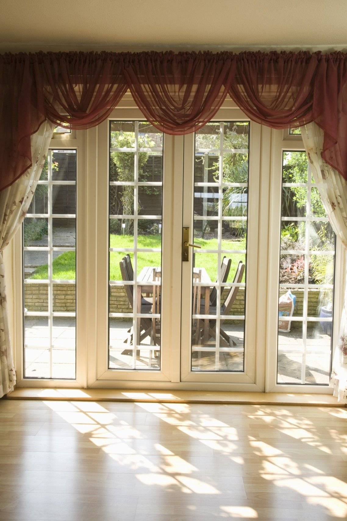 Beautiful white glass modern design french windows style for Patio doors with windows that open