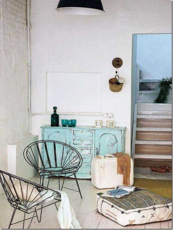 arredare-casa-al-mare-turchese-shabby-chic-1 | living room decor ... - Arredare Casa Shabby