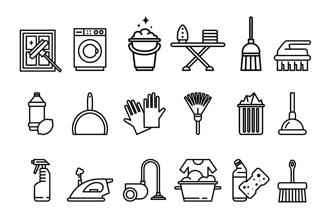 Cleaning Tools Icons Cleaning Icons Icon Planner Icons