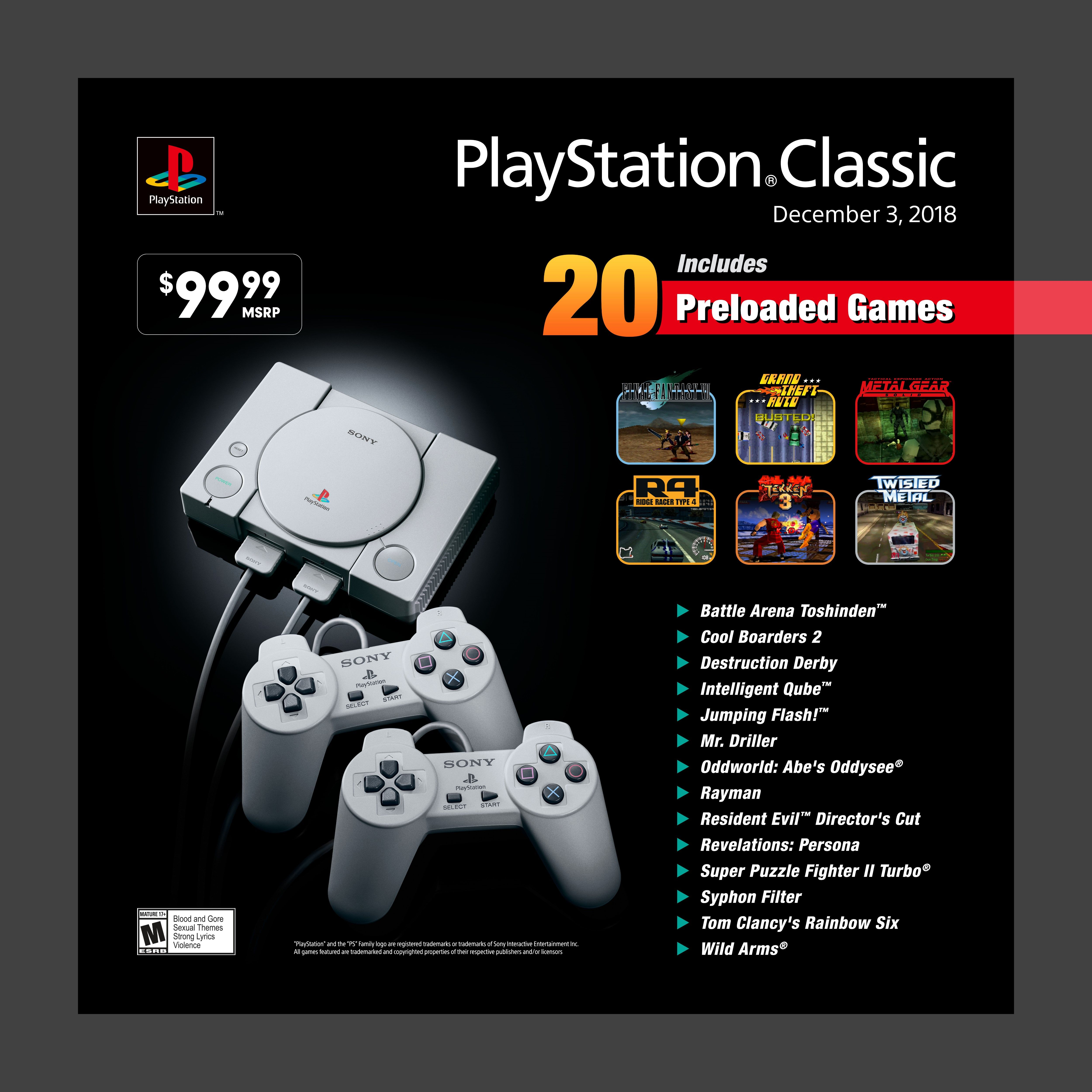 sony playstation classic edition console - gray