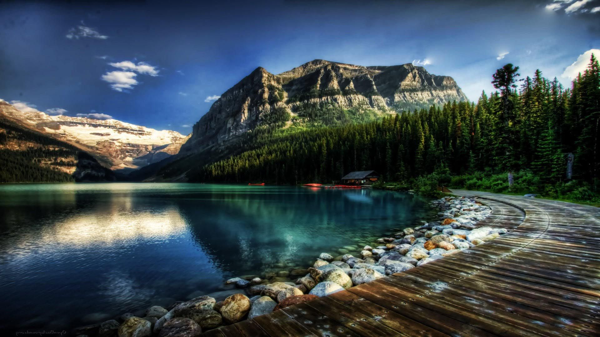 Fantastic lake louise in alberta canada hdr wallpapers hd for Wallpaper canada