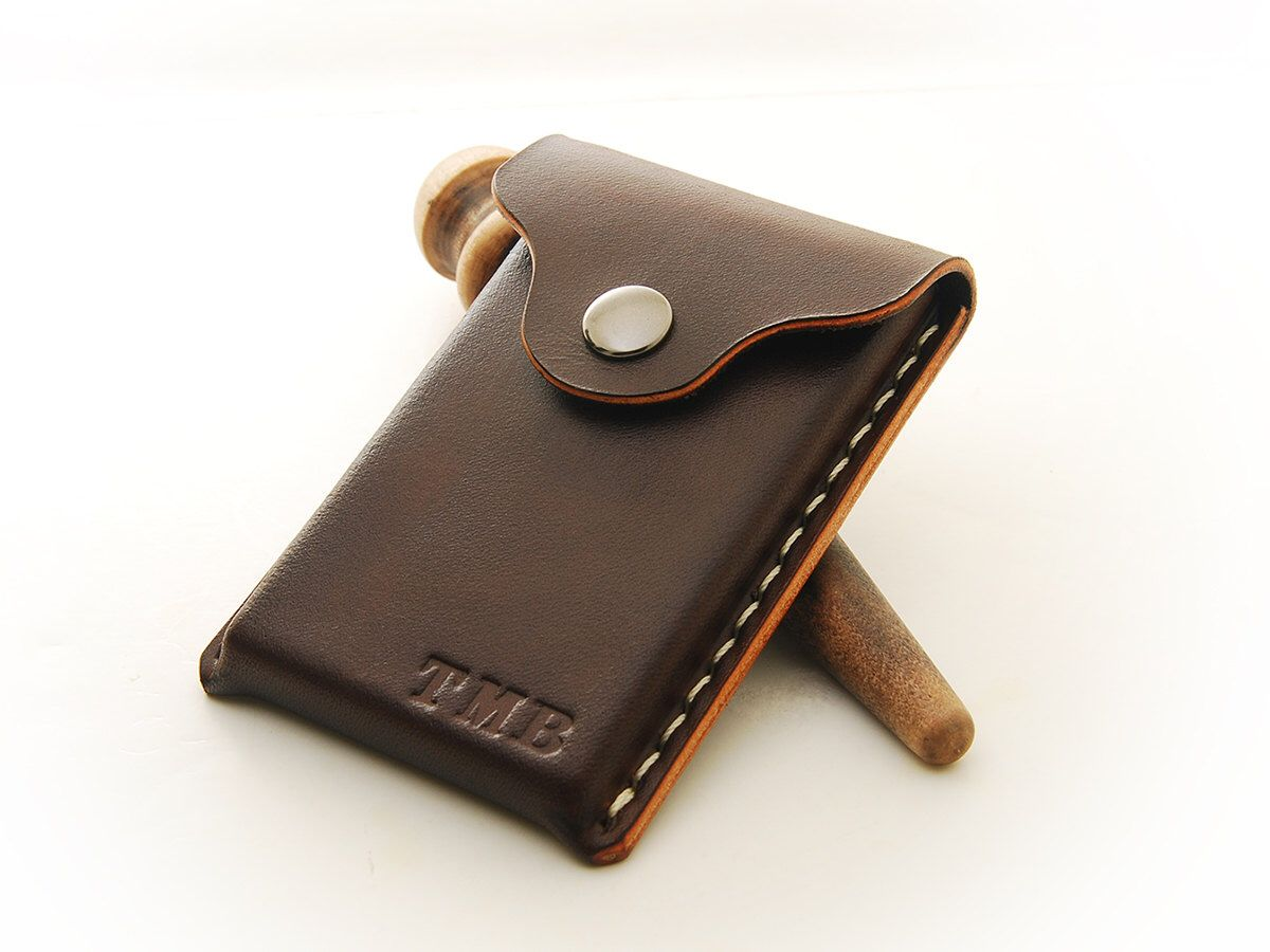 Personalized handmade leather business card holder by echosix on personalized handmade leather business card holder by echosix on etsy https reheart Choice Image
